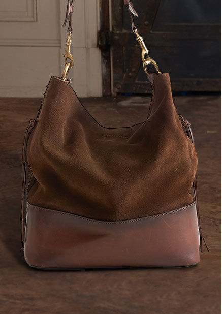 Suede Square Hobo Bag